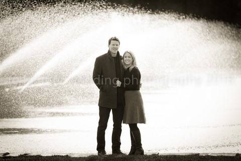 Location engagement shoot in Battersea Park, London
